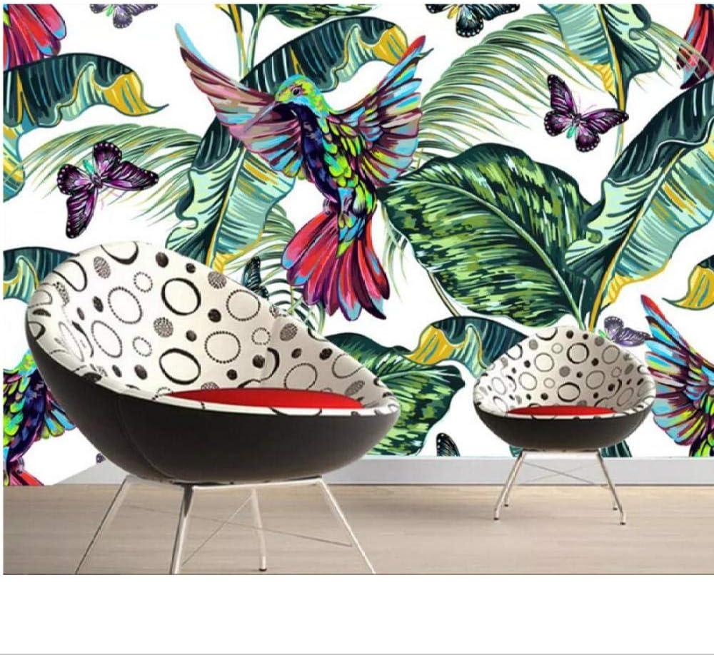 SEAL limited product Zjxxm Custom 3D Mural Wallpaper Banana Ranking TOP3 Tropical Leaf Hand Drawn