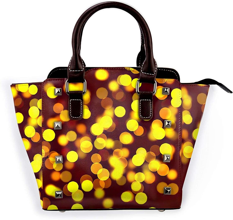 Challenge the lowest price of Max 56% OFF Japan Colorful Night Lights Leather Rivet Shoulder Bag M Purse Handbag