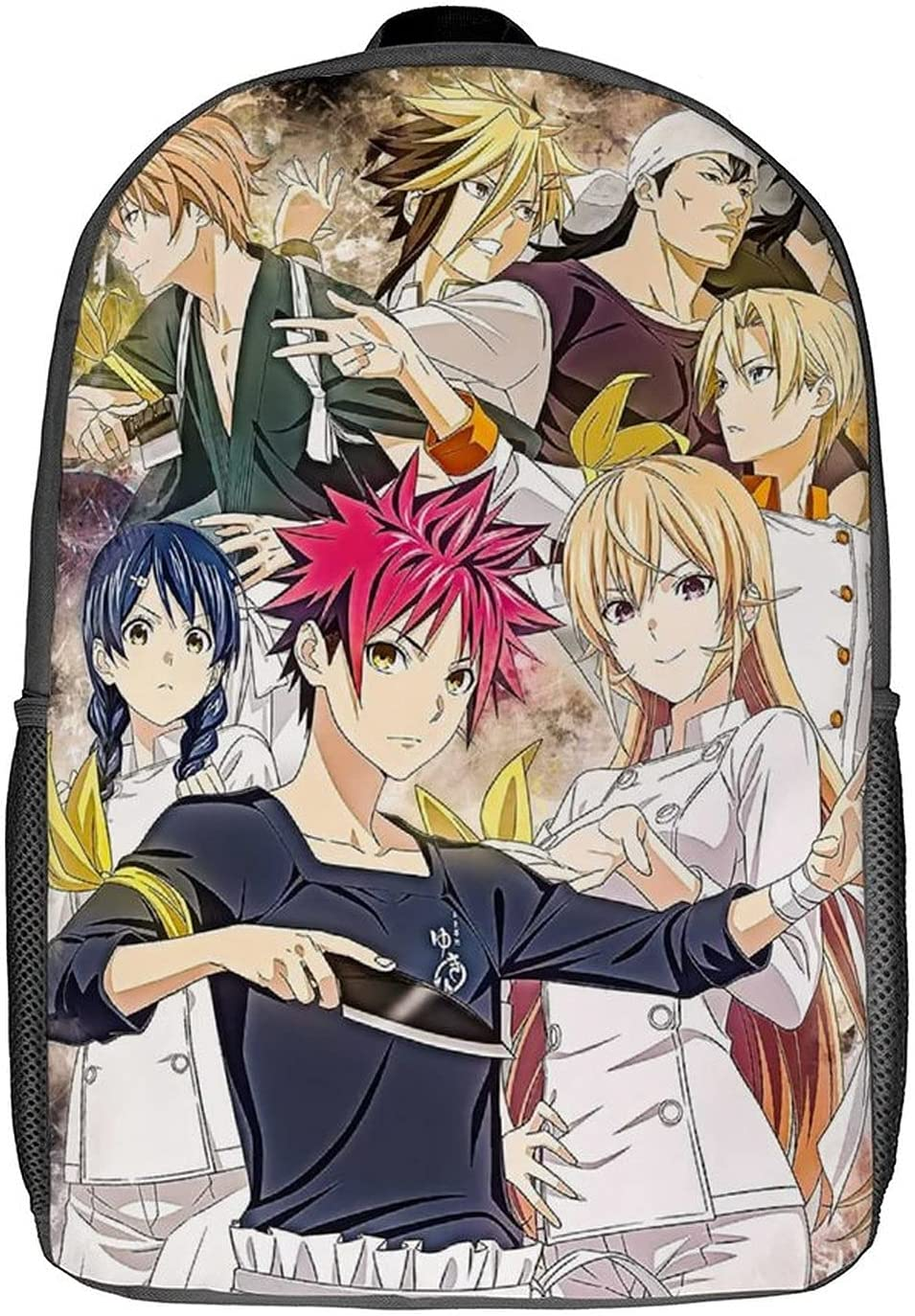 Food Wars Anime Backpack Adjustable Max 44% OFF Industry No. 1 Bag Travel Classic