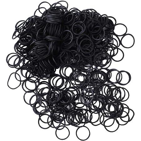 4x200MINI BLACK HAIR ELASTICS Rubber Bands Braids Braiding Plaits Small Bands UK