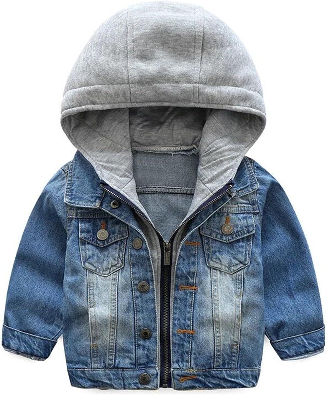 TJTJXRXR Little Tampa Mall Boys Girls Cardigan Hooded Lapel Pocket B Our shop OFFers the best service Zipper
