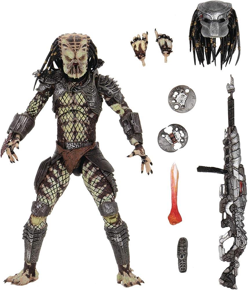 neca - statua di  predator 2 ultimate scout predator 7 inch action figure , 18 cm , pvc neca51587