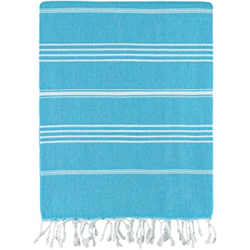 Fuchsia Cotton Ouick Dry and Highly Absorbent Classic Striped Turkish Peshtemal Towel for Multipurpose 70in x 38in