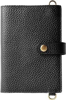 [ラフィカロ] ブックカバー 文庫 A6 本革 牛革 レザー 本 ネック ストラップ 付き 持ち運び 旅行 財布 小銭入れ カードケース