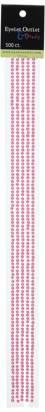 EYELET OUTLET Bling Self Adhesive Pearl Strips, 12-Inch 5-Pack, Pink