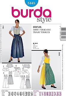 Burda Style Pattern 8448 Dirndl Dress, Size 12-28