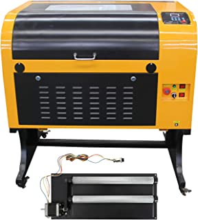 TEN-HIGH Upgraded Version CO2 400x600mm 50W 120V Laser Engraving Cutting Machine with USB Port,Include Rotary axis