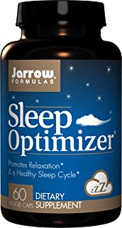 Jarrow Formulas Sleep Optimizer, Promotes Relaxation & a Healthy Sleep Cycle, 60 Caps