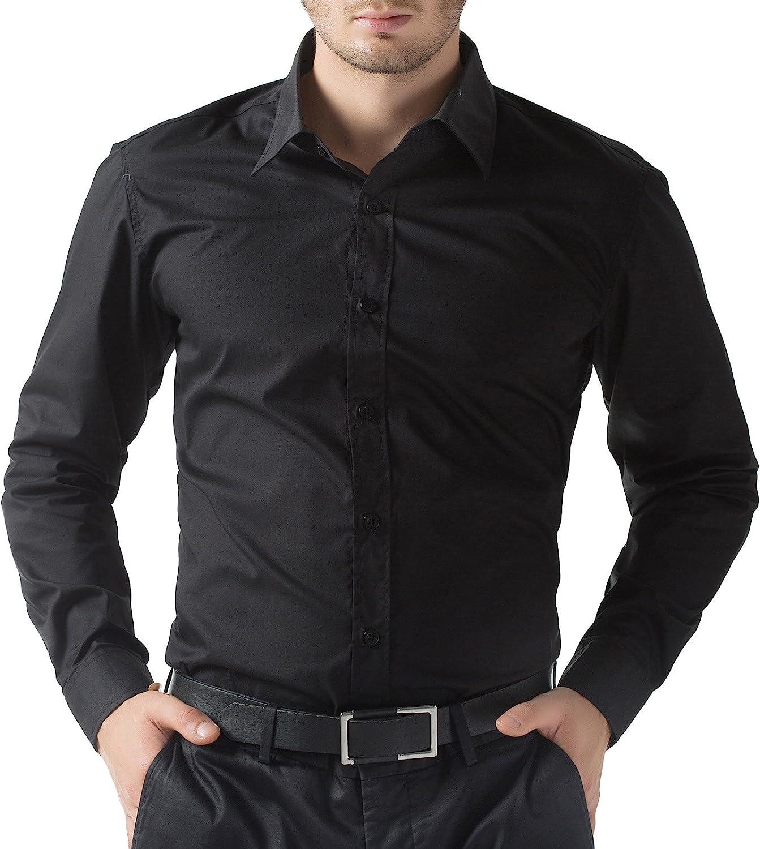 PJ PAUL JONES Men's Solid Super beauty product restock quality top Dress Long Ranking TOP13 Casual Shirt Button Sleeve