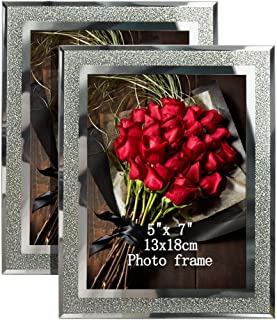 silver sparkly photo frame