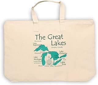 Tripp in ANDERSCOGGIN, ME (961 LA) - Lake Canvas Tote Bag 17 x 15 IN - Nautical chart and topographic depth map.