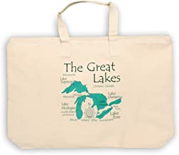 Davern Lake in ONTARIO, CN (1666 LA) - Lake Canvas Tote Bag 17 x 15 IN - Nautical chart and topographic depth map.