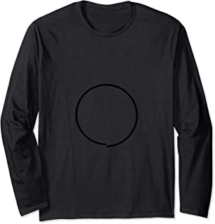 Imperfect Circle T-shirt Minimal Pure Geometric Shapes Long Sleeve T-Shirt