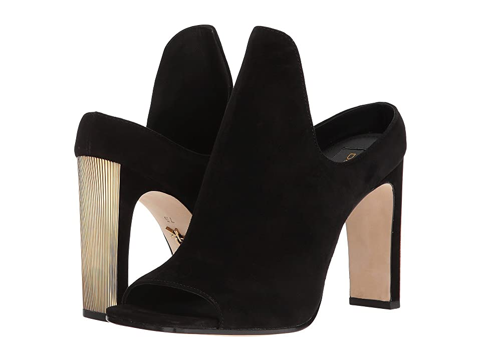 Donna Karan Sutton Mule (Black Suede) High Heels