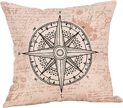 Amazon.com: wqbzl Vintage brújula náutica mapa del viejo ...