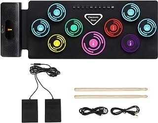 Hricane Electronic Drum Set, Roll Up Drum Practice Pad