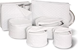 6 Piece Tabletop Quilted Vinyl Dinnerware Storage Set