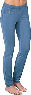 PajamaJeans Women's Petite Skinny Stretch Denim Jeans, Bermuda, X-Large / 16-18