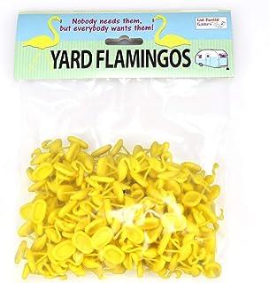 Yellow Yard Flamingo Miniatures, Set of 100