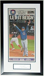 CHICAGO CUBS 2016 WORLD SERIES CHICAGO TRIBUNE NEWSPAPER SPORTS SECTION 11/3/16 - PROFESSIONALLY FRAMED 14x30 & PLATE