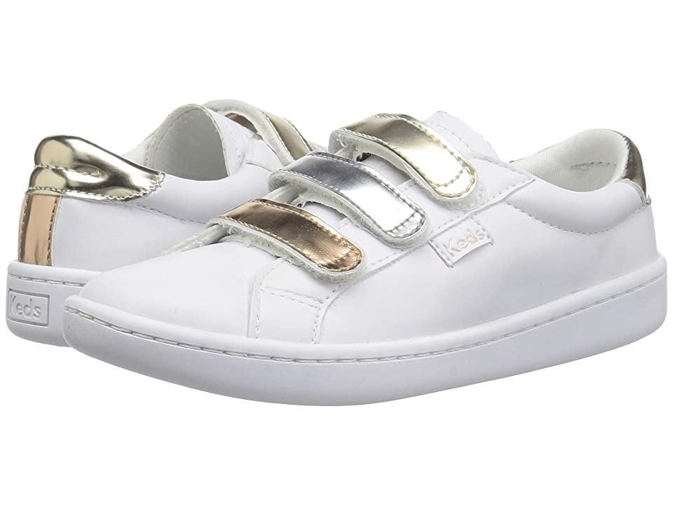 Keds Kids Ace 3V (Little Kid/Big Kid) (Triple Metallic Synthetic) Girls Shoes
