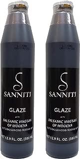 Sanniti Italian Balsamic Vinegar Glaze, 12.9 Ounce (Pack of 2)