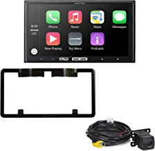 Alpine iLX-107 7 Inch Mech-Less, Compatible with Wireless Apple CarPlay & Backup Camera with License Plate mounting kit