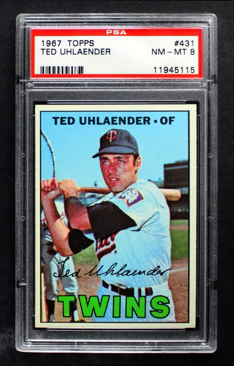 Outlet sale feature 1967 Max 61% OFF Topps # 431 Ted Uhlaender Minnesota Twins Card Baseball P