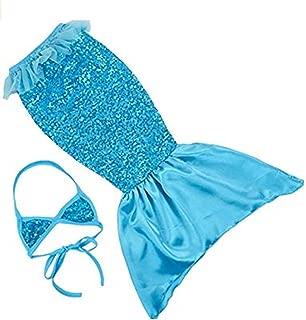 Fandim Fly Princess Mermaid Tail Sequin Beachwear Swimmable Costumes Bikini Dress