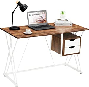 GreenForest Small Computer Office Desk with Drawers 47.2
