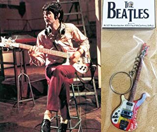 キーホルダー ベースギター Rickenbacker 4001 Paul Mccartney The Beatles