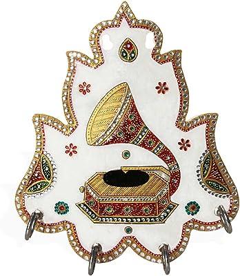 Handicrafts Paradise Marble Gramophone Motif Keyholder
