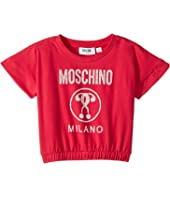 Moschino Kids - Short Sleeve Moschino Milano Graphic T-Shirt (Little Kids/Big Kids)