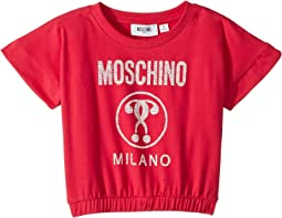 Short Sleeve Moschino Milano Graphic T-Shirt (Little Kids/Big Kids)