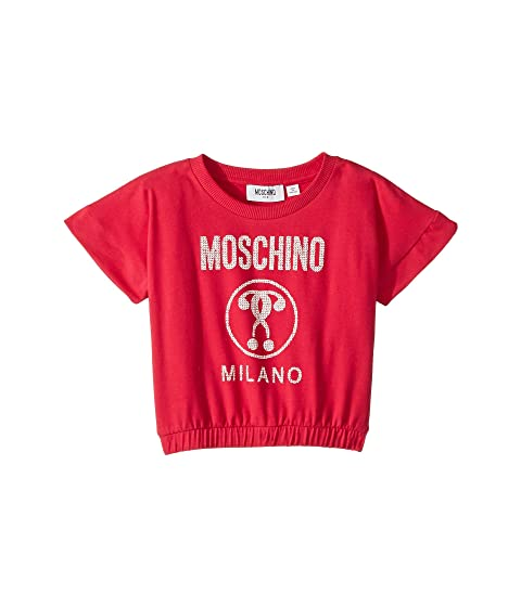 Moschino Kids Short Sleeve Moschino Milano Graphic T-Shirt (Little Kids/Big Kids)