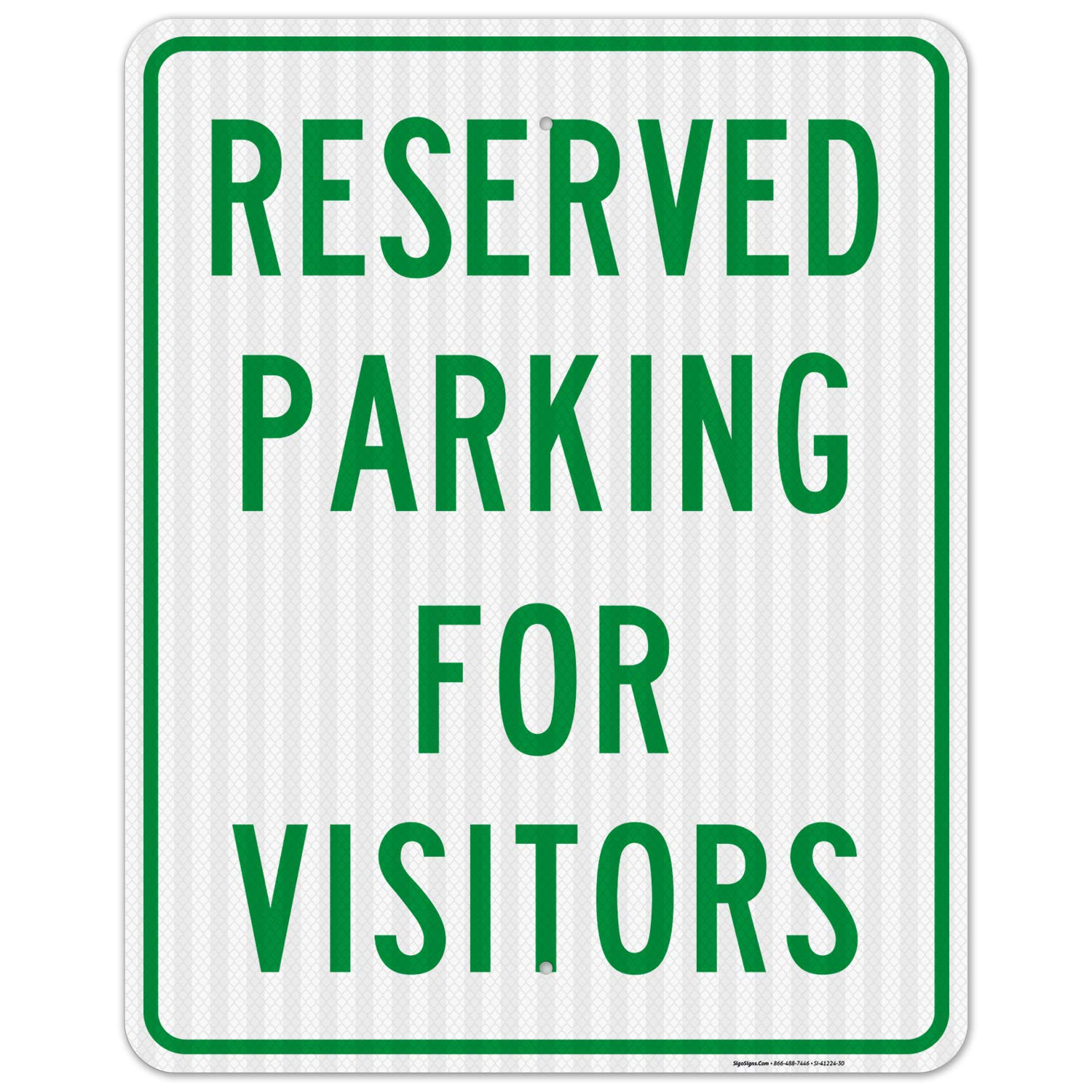 Reserved El Paso Mall Parking for Visitors Financial sales sale Sign 24x30 Reflect 3M EGP Inches
