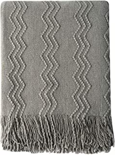 Bourina Throw Blanket Textured Solid Soft Sofa Couch Cover Decorative Knitted Blanket,..