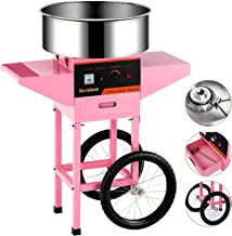 Cotton Candy Machine cart -Nurxiovo Electric Commercial Candy Floss Maker with Cart Stainless Steel Big Drawer Pink for Va...