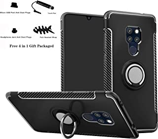 Huawei Mate 20 case,Labanema Hybrid Dual Layer 360 Degree Rotation Ring Holder Kickstand Armor Slim Protective Cover for Huawei Mate 20 - Black