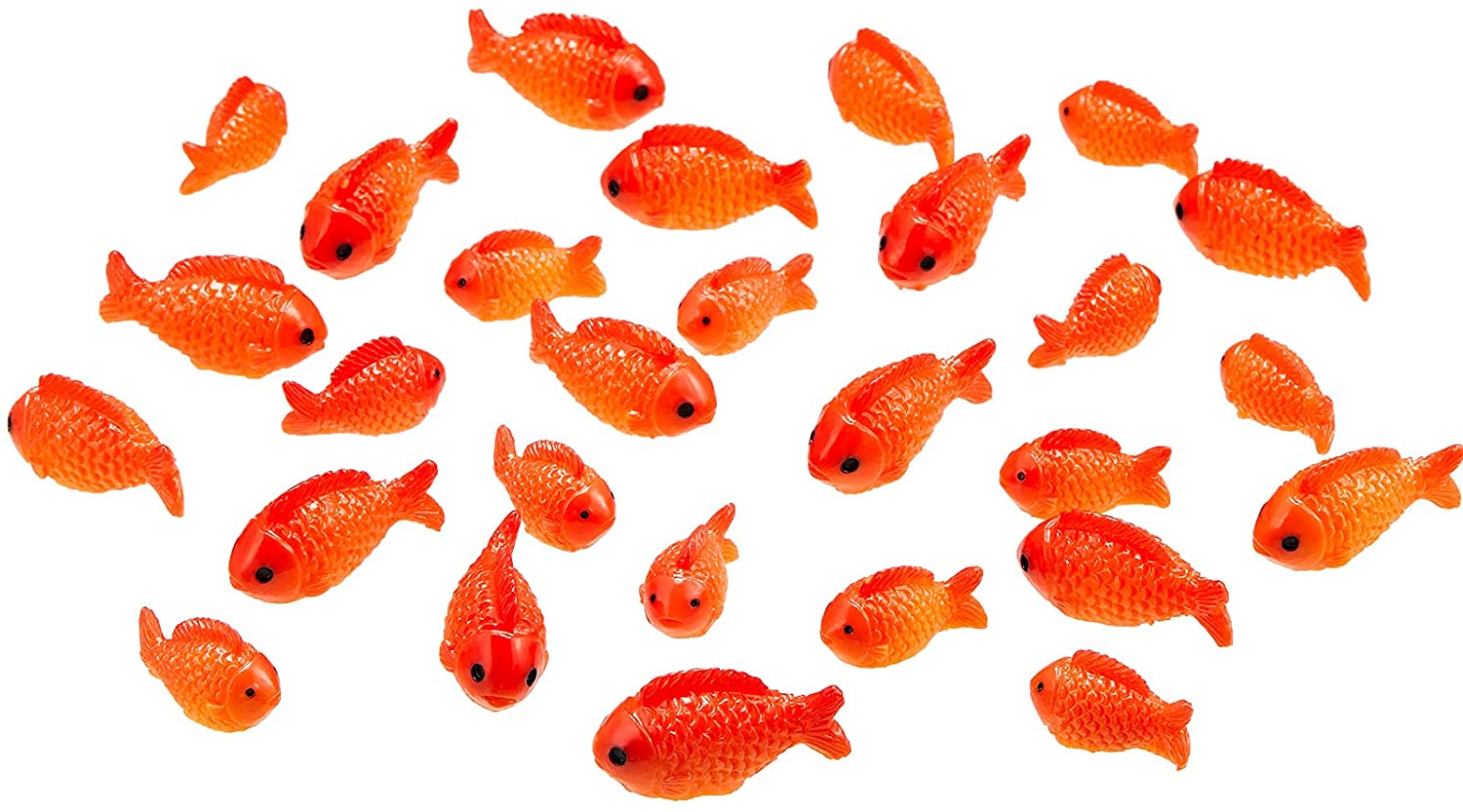 36 Pieces Small Resin Red Goldfish Mini Goldfish Figurines Resin Red Fish Toy Set Sea Animals Toys Fairy Garden Accessories Miniature for Home Decor DIY Crafts Miniature Garden Accessories