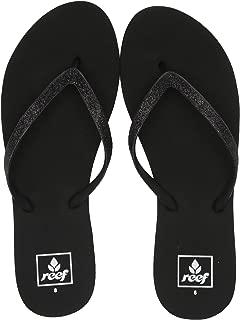 Women's Sandals Stargazer | Glitter Flip Flops for Women with Soft Cushion Footbed | Waterproof, Black/Black, 11