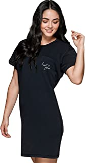 Lorna Jane Womens Fearless T-Shirt Dress, BLK