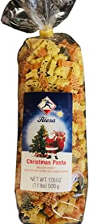 Reisa Christmas Kids Adults Fun Novelty Holiday Shapes (BONUS EXCLUSIVE AUTOCOLLANTS SCINTILLANTS) Shaped Noodles Spaghetti Bowls Pasta ~ Christmas Tress, Star & Candles