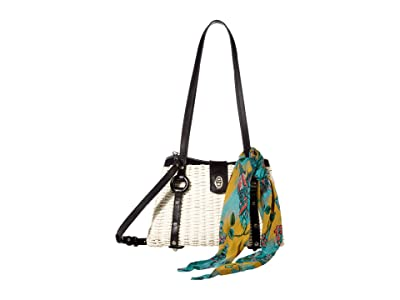 Patricia Nash Marcianise Satchel (Natural/Black/BG Scarf) Bags
