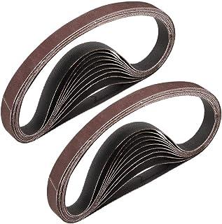 """3/8""""x 13"""" 800 Grit Sanding Belt Aluminiumoxid Sandpapper Bälten för Bärbar Strip Slipmaskin Efterbehandling Metal Gips Pol..."""