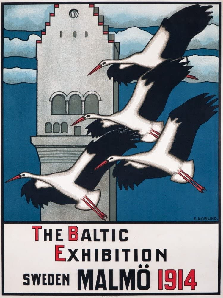 The Baltic Exhibition Sale special price Malmo Vintage Norlind Low price artist: Sw Poster