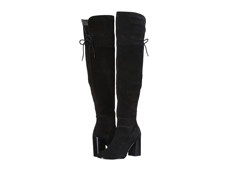 Steve Madden Novela Knee Boot (Black Suede) Women