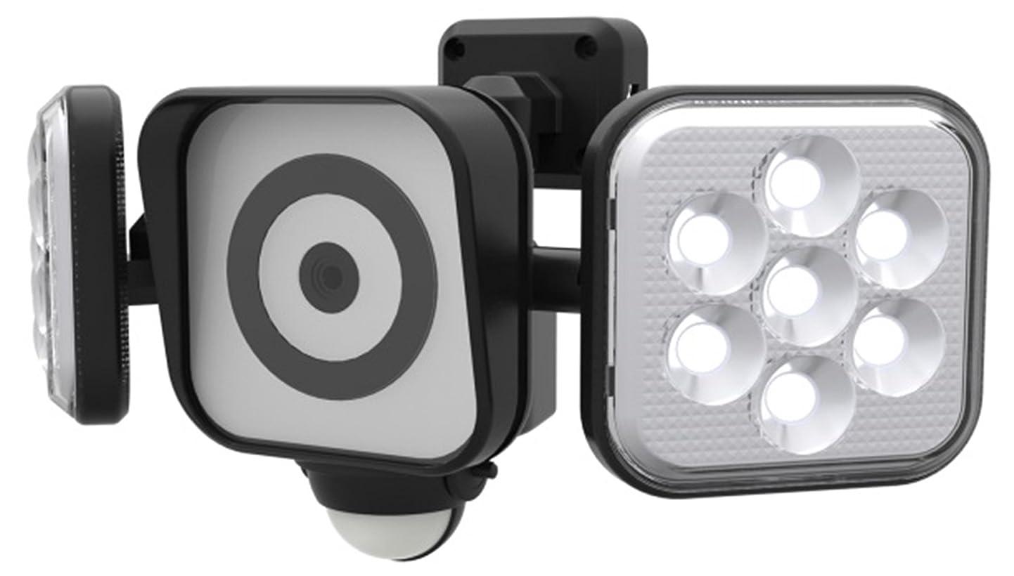 役に立つ隔離基礎理論ムサシ RITEX フリーアーム式LEDセンサーライト防犯カメラ(8W×2灯) 防雨型 C-AC8160