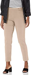 SLIM-SATION womens Pull On Solid Ankle Pant With Real Front pockets Pants