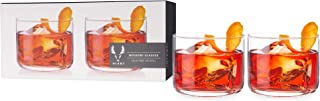 Viski Crystal Negroni Glasses Drinkware, 8 oz, Clear